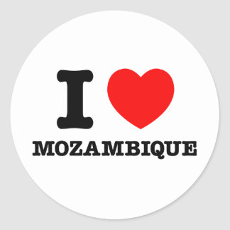 I Heart Mozambique Round Sticker