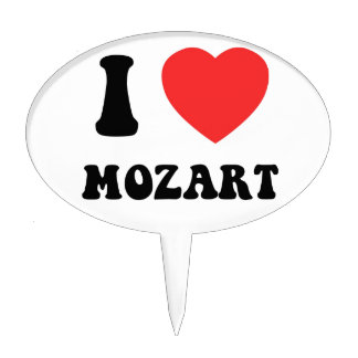 I Heart Mozart Cake Pick