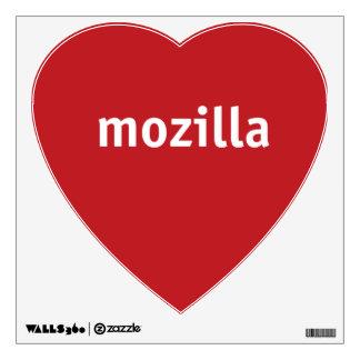 i heart mozilla wall decal
