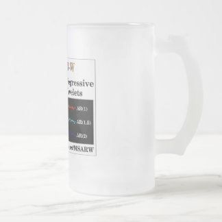 I heart MSAR-W Frosted Glass Beer Mug
