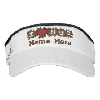 I Heart Mud Custom Name Headsweats Visor