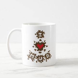 I Heart Mud Coffee Mugs