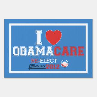 I <Heart> Muestra de la yarda de ObamaCare (tamaño