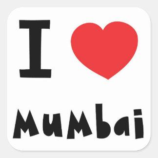 I heart Mumbai / Bombay Square Sticker