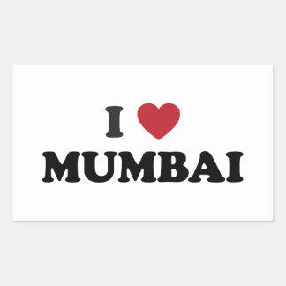I Heart Mumbai India Rectangular Sticker
