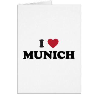 I Heart Munich Germany Cards