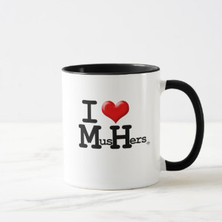 I Heart Mushers Mug