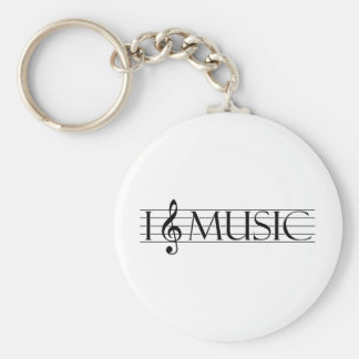 i heart music 2 keychain