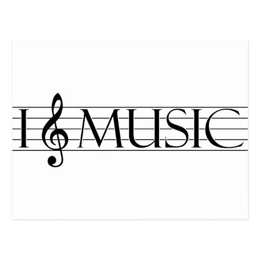 i heart music 2 postcard