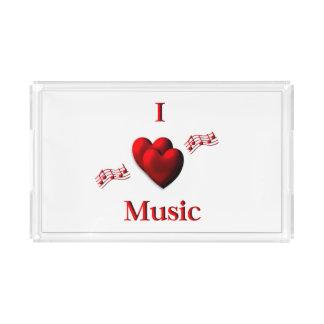 I Heart Music Acrylic Tray