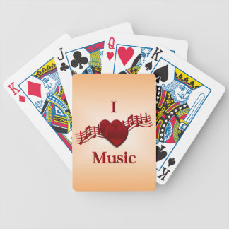 I Heart Music Bicycle Playing Cards