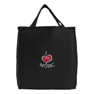I Heart Music Black Tote Bag
