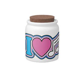 I Heart Music Candy Jar
