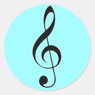 i heart music classic round sticker