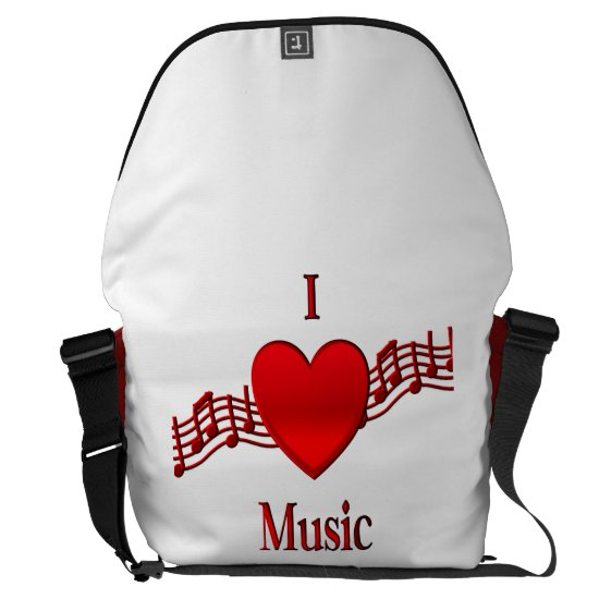 I Heart Music Courier Bag