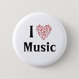 I Heart Music Customizable Button