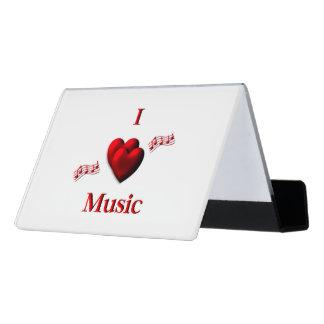 I Heart Music Desk Business Card Holder