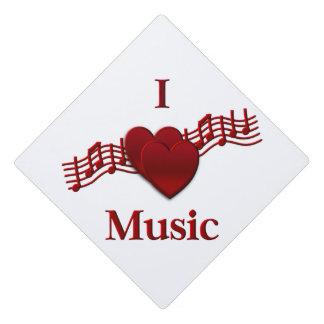 I Heart Music Graduation Cap Topper