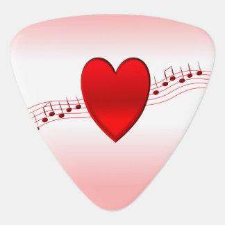 I Heart Music Guitar Pick