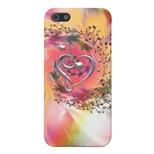 I Heart Music ~ In a Glorious Swirl of Notes iPhone SE/5/5s Case