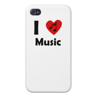 I Heart Music iPhone 4 Covers