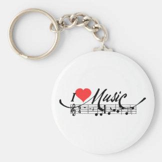 I Heart Music Keychain