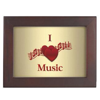 I Heart Music Memory Box