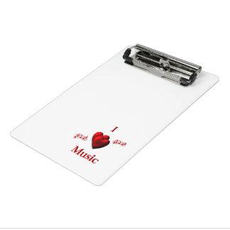 I Heart Music Mini Clipboard