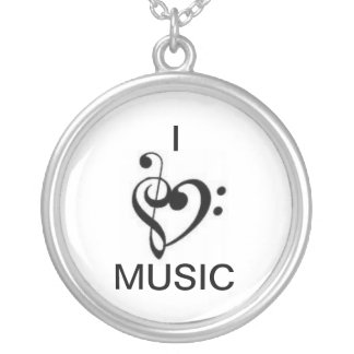 "I ""heart"" Music Necklace"
