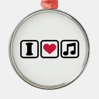 I heart music note christmas tree ornaments