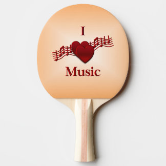 I Heart Music Ping-Pong Paddle