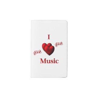I Heart Music Pocket Moleskine Notebook
