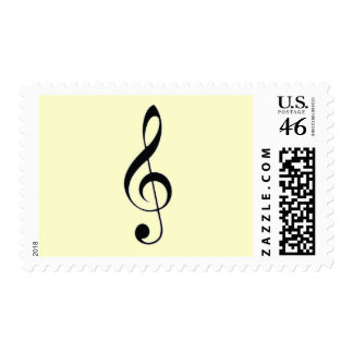 i heart music postage stamps