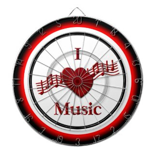 I Heart Music Regulation Dart Board