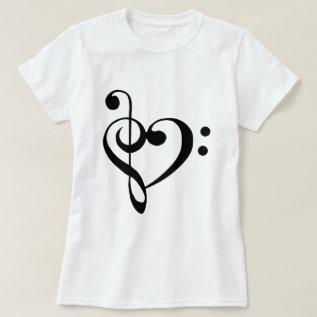I Heart Music T-shirt at Zazzle