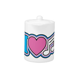 I Heart Music Teapot
