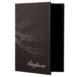 I HEART MUSIC Treble Clef Black Personalized Case For iPad Air