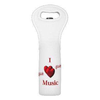 I Heart Music Wine Bag