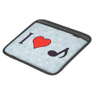 I Heart Musical Notes iPad Sleeves