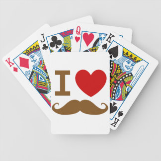 I heart mustache bicycle playing cards