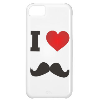 I Heart Mustache Cover For iPhone 5C