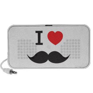 I Heart Mustache Portable Speaker