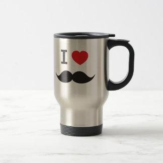 I Heart Mustache Travel Mug