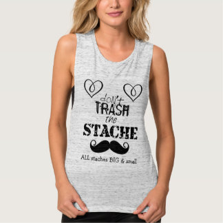 I heart mustaches big and small tank top