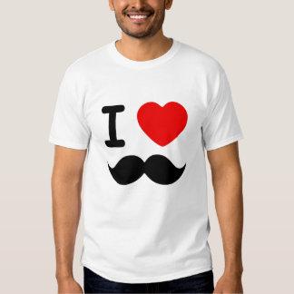 I Heart Mustaches T-shirt