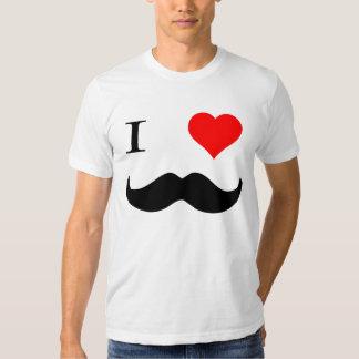I Heart Mustaches Tee Shirt