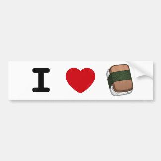 I *heart* Musubi Bumper Sticker Car Bumper Sticker