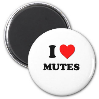 I Heart Mutes Magnets