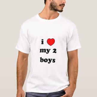 i heart my 2 boys T-Shirt