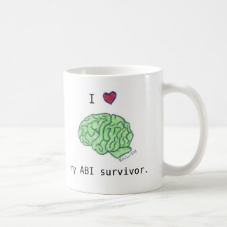 """I [heart] my ABI survivor"" mug"